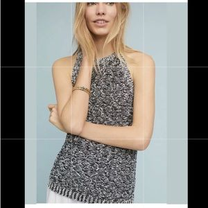 Anthropologie Moth Marled Sweater Halter Tank Knit